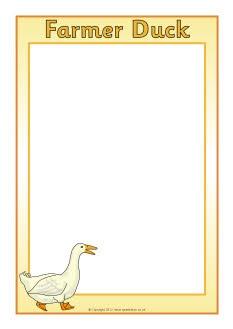 Farmer Duck A4 page borders (SB7709) - SparkleBox