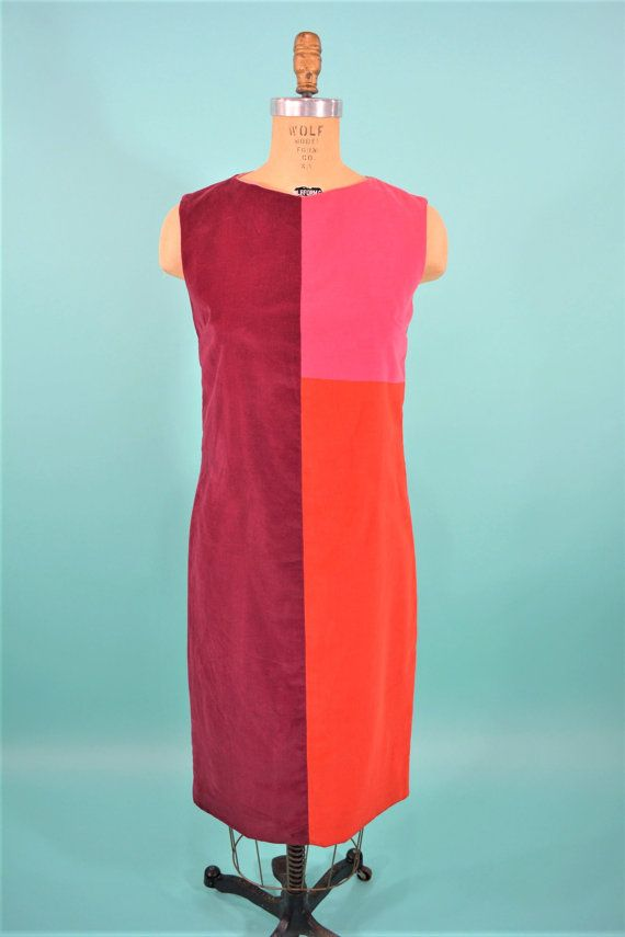 1960s dress vintage mod colorblock shift 60s by StorylandVintage