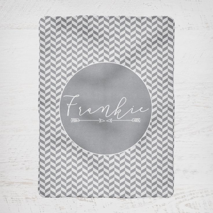 Colour and Spice Personalised Blanket Arrows Light Grey and Grey