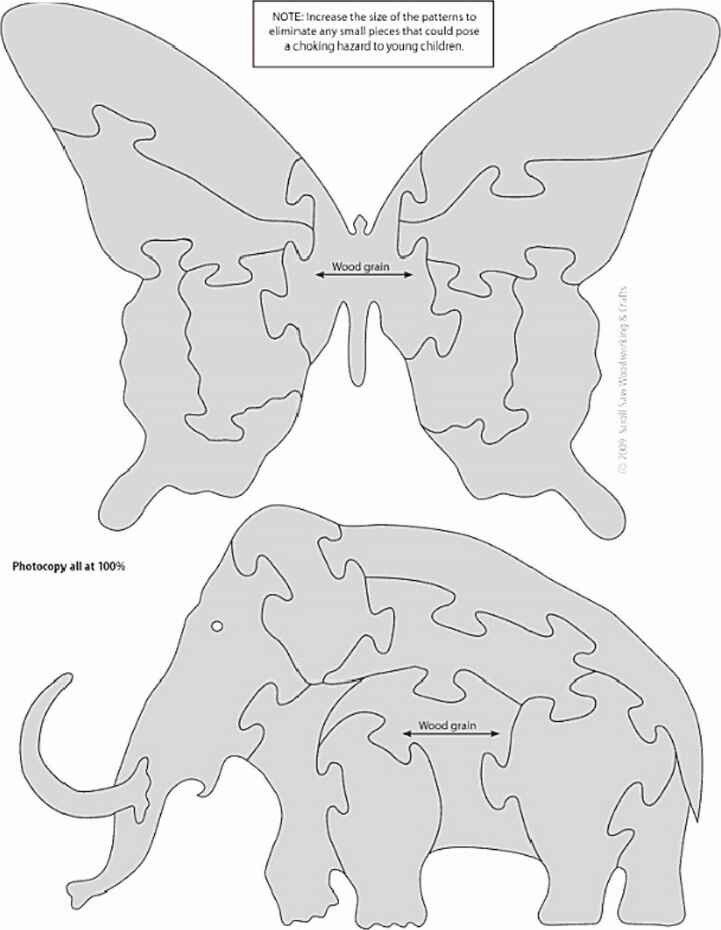Puzzle Butterfly Mammoth