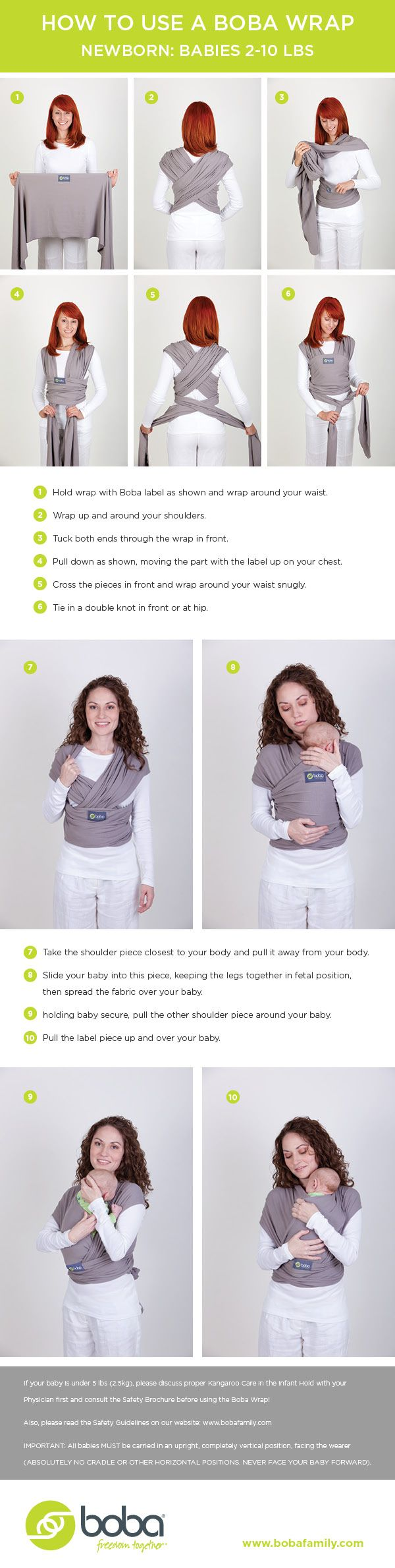 Best place after the womb! How to tie a stretchy baby wrap and carry your newborn.