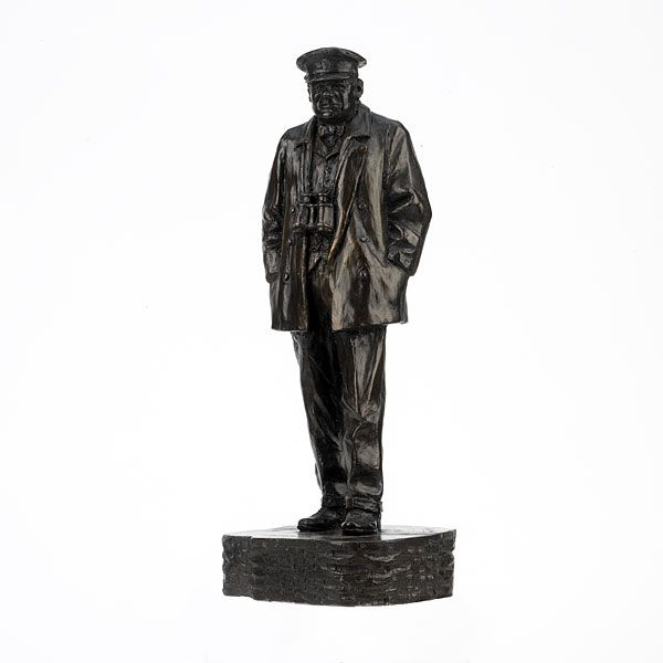 On D-Day 6 June 1944, the Allied Armies landed in Normandy. After the invasion, Churchill toured the beachhead with General Montgomery.    This figure is taken from a photograph of Churchill as he stood on the Normandy beaches.
