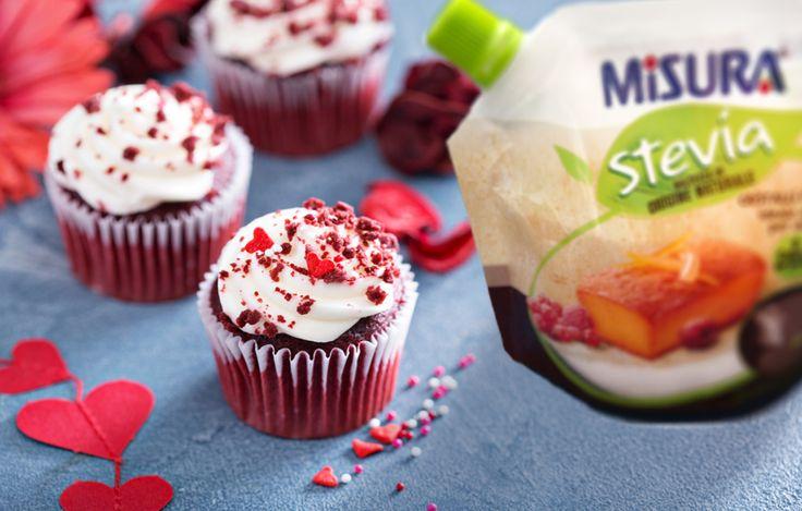 Per i più dolci e romantici: muffin red velvet.  #sweet #stevia #muffin #redvelvet