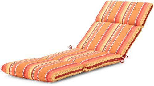 "Strathwood Basics Hardwood Chaise Lounge Sunbrella Cushion, Dolce Mango by Strathwood. $99.99. Measures 72"" L x 22"" W x 3.5"" H. Gently spot clean with mild soap and cool water, then air dry. 100-percent-acrylic cover; resists stains and fading in sunlight. Cushion with high-performance outdoor Sunbrella fabric fits Strathwood Basics Hardwood Chaise Lounge, or similarly sized chair. Fabric same on both sides for reversibility; made in the USA of imported materials. St..."
