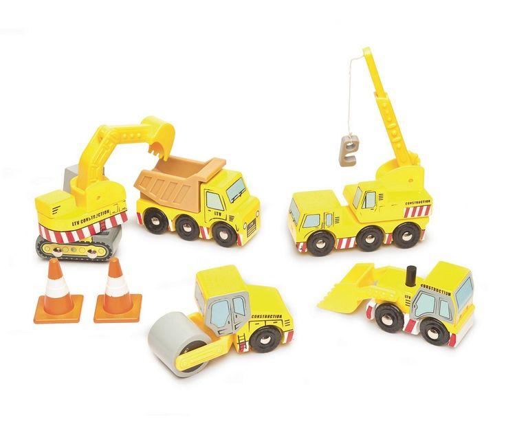 Biler og maskiner til byggeplass