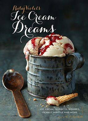 Ruby Violet's Ice Cream Dreams, peanut butter and raspberry ripple on the cover