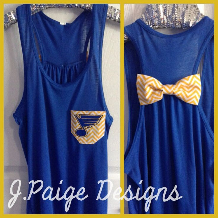 St. Louis Blues Hockey Tank Top $25 from J.Paige Designs. To order- email at Jpaigedesigns13@gmail.com