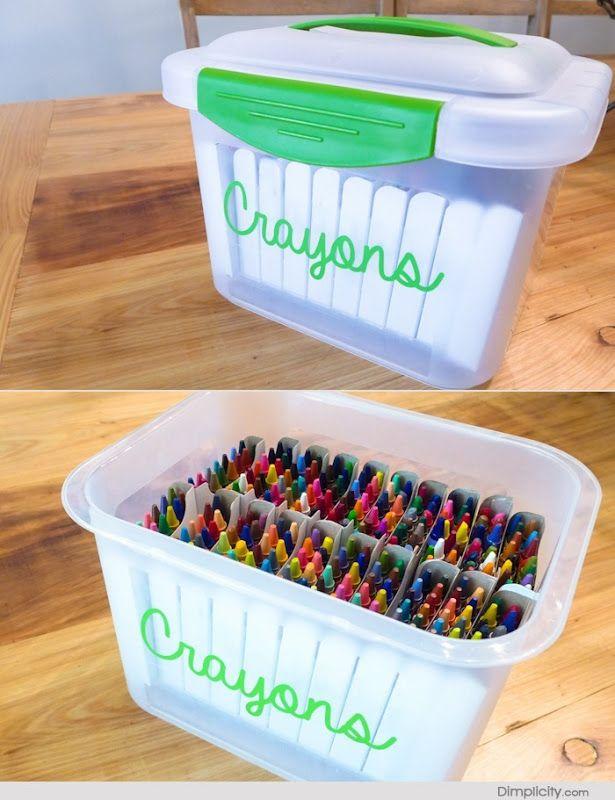 Crayon Organization Storage