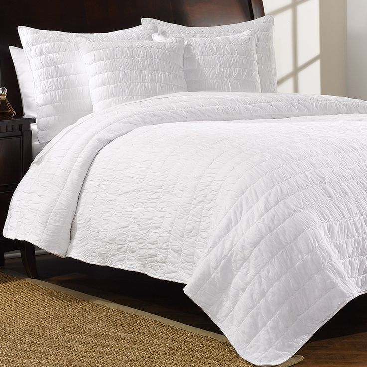 Ivy Hill Home Bedding | Ivy Hill Home Revel Cotton Quilt Set   King In  Whisper