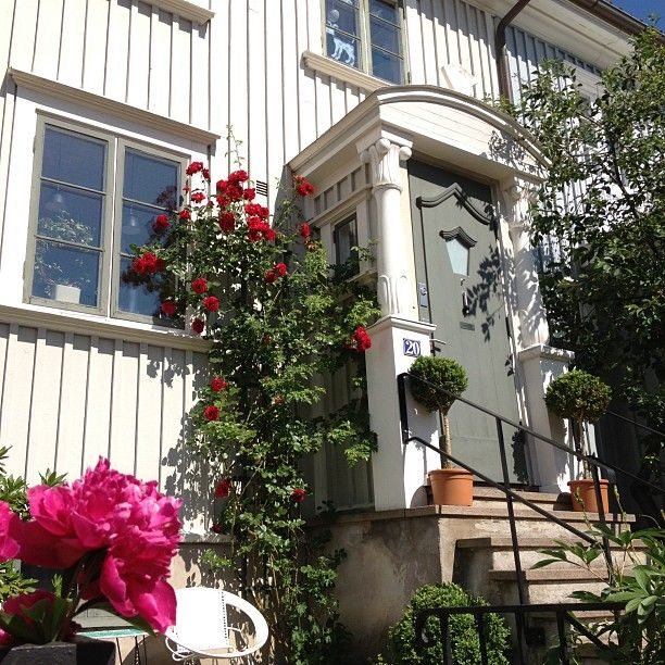 http://inredningsvis.se/instagram-inspiration-klangrosor-i-orgryte/  Roses white house