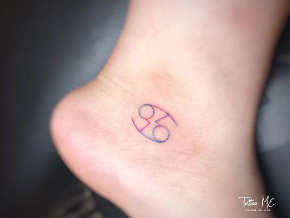 Cancer Zodiac Sign By Chloe Cancer Sign Tattoos Artsy Tattoos Cancer Zodiac Tattoo