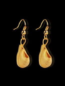 Shells Earrings  Handmade by Tribal's in the Eastern Himalayas in local bamboo. All natural, eco- friendly and biodegradable.