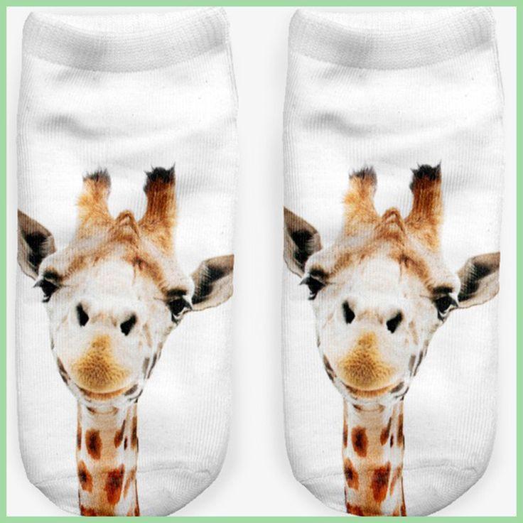 Girls Socks Harajuku Animal Print Socks 3d Digital Print Women Men Funny Anklet Socks