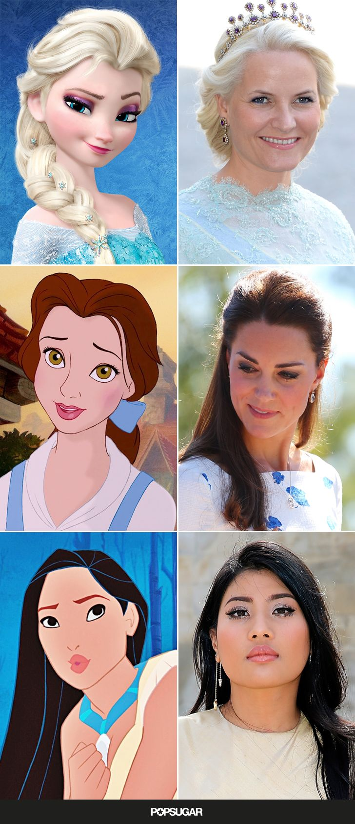 These real-life royals remind us so much of their Disney character lookalikes!