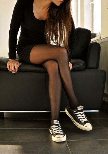 Oxford Schuh Not Elegant, But I Do Love This. Converse Trainers, Lbd