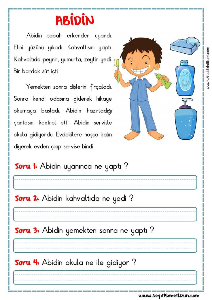 OKUMA ANLAMA METNİ – ABİDİN - Seyit Ahmet Uzun – Eğitime Yeni Bir Bakış