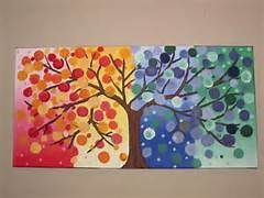 Simple seasons tree - I WILL do this with my art students
