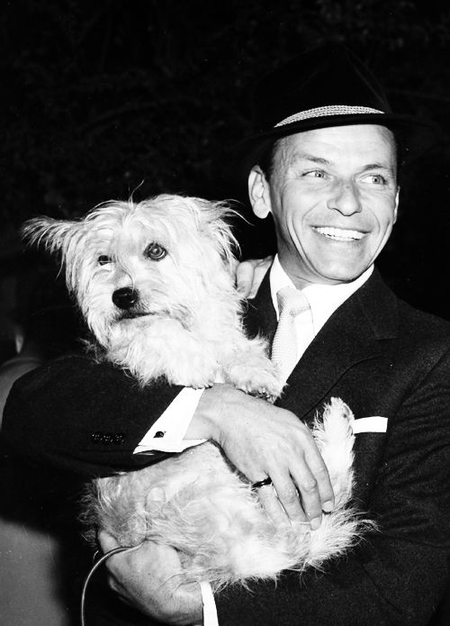 Frank and Snuffy, love this photo with his dog! (that's funny his dog has my name!!!)
