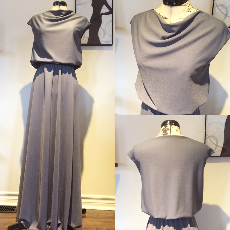 Love this dress by ThreadStrong! Custom made gorgeous flowy slate blue fabric!