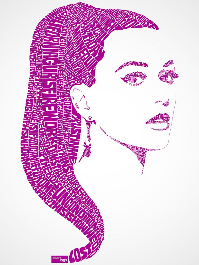 Katy Perry Typographic Design - SEANINGS | Photography + Design