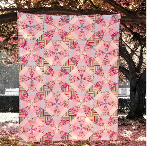 Whirl Quilt - free pdf pattern available. Uses Kaleido Ruler. Love this quilt!