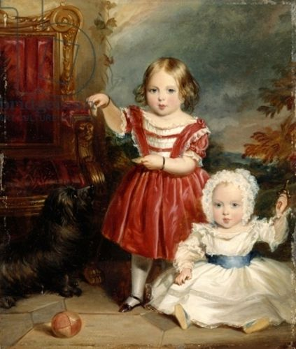 Victoria, Princess Royal and Albert Edward, Prince of Wales by Thomas Musgrave Joy