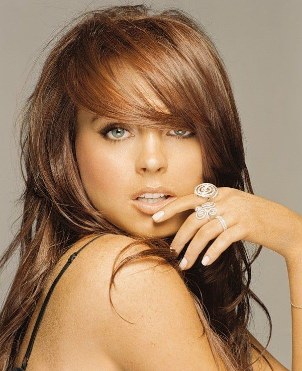 Lindsay Lohan  - Hair colour congnac--LOVE this pic---not a fan of her but love the hair!!