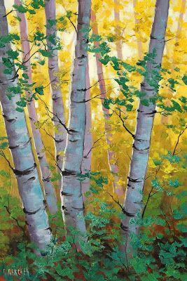 Pinturas que me gustan: arboles impresionistas