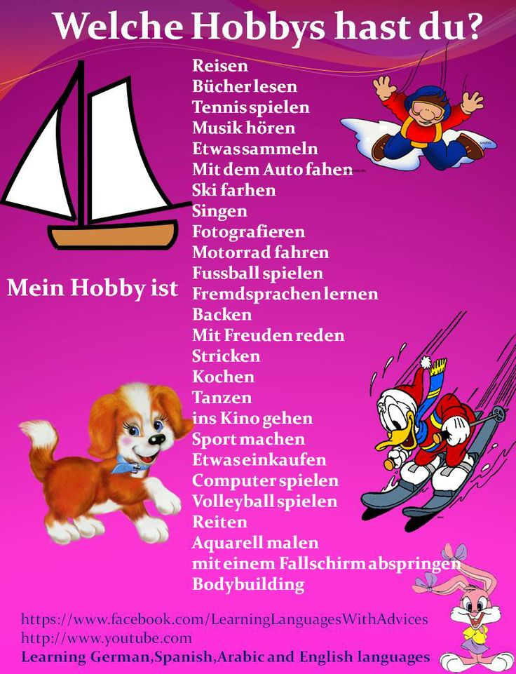 Welche Hobbies hast du?