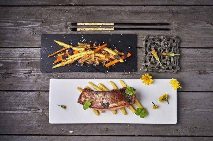 Teriyaki vadlazac, szezámos zöldségekkel Rendelés: http://gourmetbox.hu/shop/paleo-boxok/teriyaki-lazac-szezamos-zoldsegekkel/