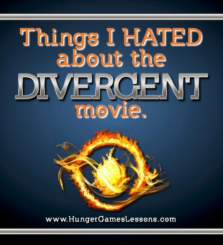 Things I HATED about the Divergent movie. {Contains spoilers} www.hungergameslessons.com