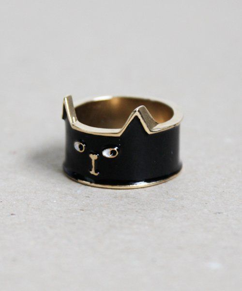 Fancy - Black Cat Ring