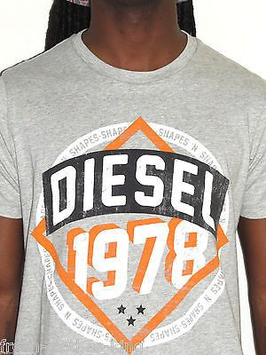 Diesel Shirt New $58 Mens Heather Gray Crew Neck Tee Choose Size
