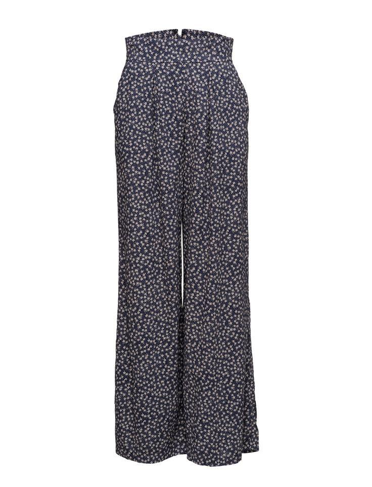 Denim & Supply Ralph Lauren FLORAL WIDE-LEG PANT leveälahkeiset housut