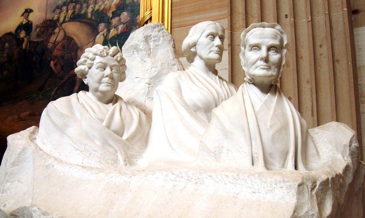 A Portrait Monument Of Elizabeth Cady Stanton Susan B Anthony And Lucretia Mott Elizabeth Cady Stanton Womens Equality Anthony