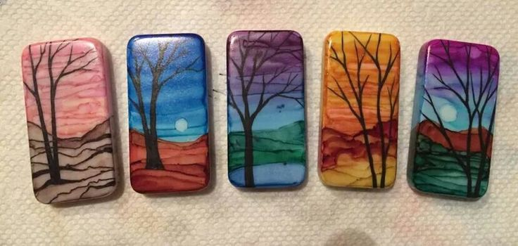 Beautiful hand painted domino game tiles using alcohol inks applied with a small paint brush. More about alcohol inks at http://www.theenchantedgallery.com/embellish.html