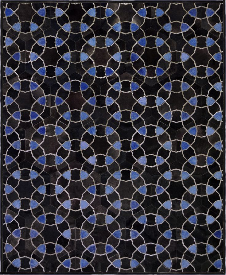 Buy Stella Blue Hide Rug By Mansour   Limited Edition Designer Rugs From  Dering Hallu0027s Collection Of Contemporary Geometric Patterned Hide.