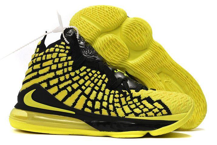 2019 Nike LeBron 17 Black/Yellow-Volt