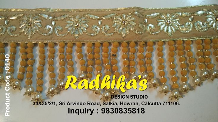 Radhika's Design Studio for #Wedding Packing & #Garlands, #Envelopes, #Rakhi, #Bandanwar, #Hanging, #Customized #Accessories and other handmade decorative items for all occasions. #Product : BANDARWAR #Business Inquiry : 9830835818. #Keychain #rajsthanigift #themepacking #handmade #gift #RadhikasDesignStudio #kolkata #weddingGift #VARMALA #CUSTOMIZED #EARINGS #HANGING #MENBROACH #BRACELET