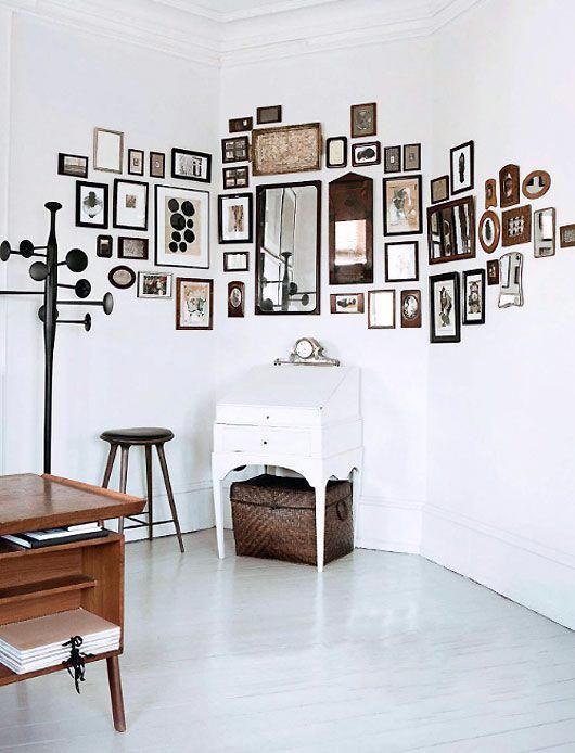 Who says a gallery wall has to stick to just one surface?
