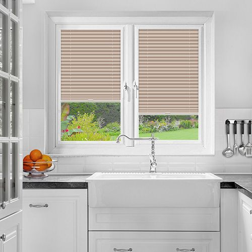 A Soft Pink Colour PerfectFit Pleated Blind it is ideal for PVC windows