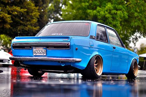 Datsun 510 ♥ see some cool pics on this site http://extreme-modified.com/extreme-modified-cars/