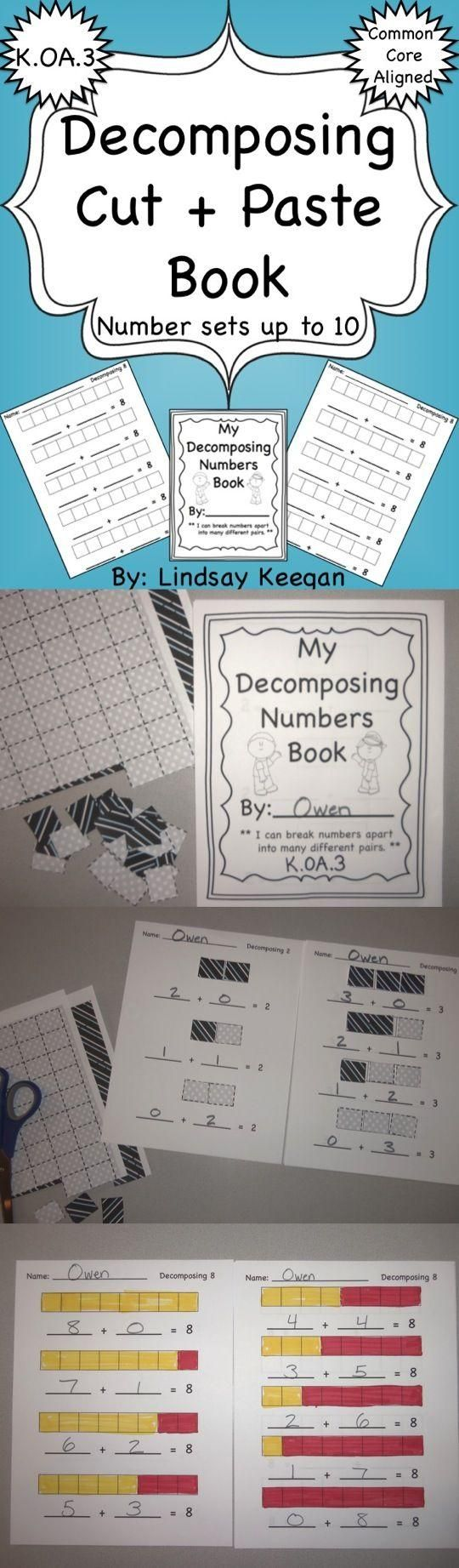 K.OA.3 Decomposing numbers from 2 through 10