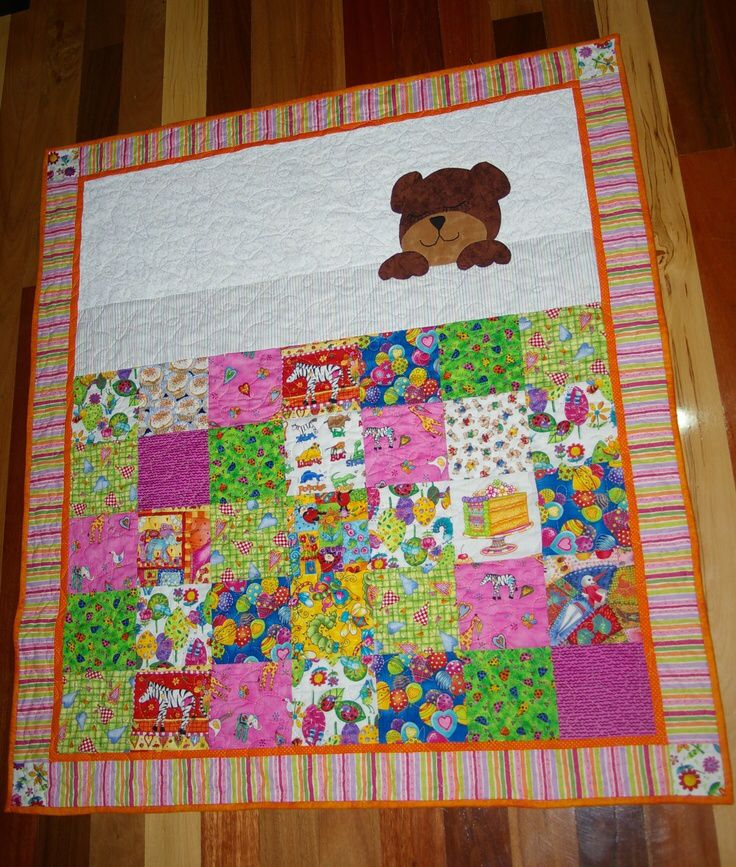 Love The Sleeping Teddy Baby Quilts Pinterest The O