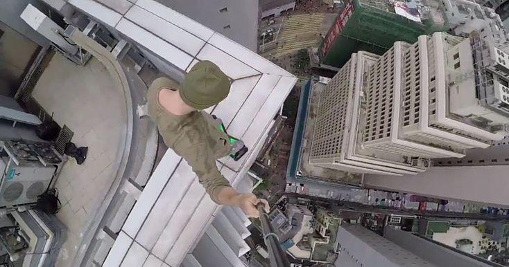 Любитель экстремальных развлечений из Екатеринбурга попал в топ YouTube благодаря смертельно опасным трюкам в Гонконге.