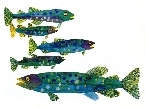 Fish by Eric Carle, children's book illustrator