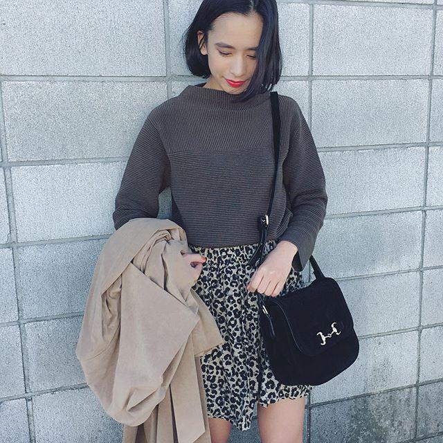 . トレンチの中はこんな感じ💋💋 #ootd #outfit #coordinate #fashion #edistcloset #kiloshop #vintage #chereine #まみふく