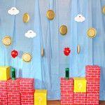 Decoración de pared de cumpleaños de Super Mario
