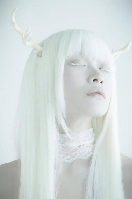albino woman artistic fashion editorial fantasy art high