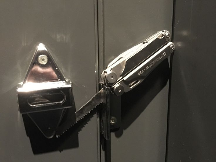 No lock on a public restroom stall? Leatherman to the rescue! : EDC